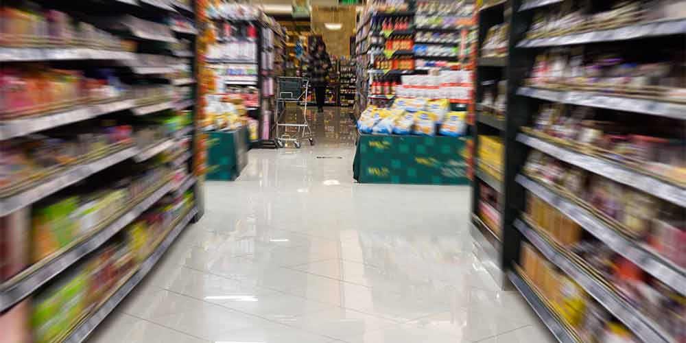 Superstore isle flooring
